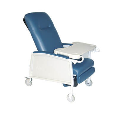 Drive Medical 3 Position Heavy Duty Bariatric Blue Ridge Geri Chair Recliner Model d574ew-br