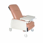 Drive Medical 3 Position Heavy Duty Bariatric Rosewood Geri Chair Recliner Model d574ew-r