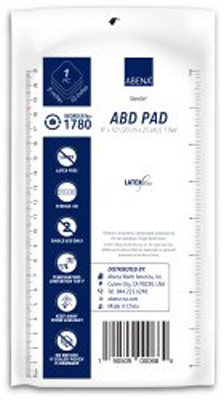 Abena Abdominal Pad Cellulose / Nonwoven 8 X 10 Inch Rectangle Sterile - 1780 - Case of 320