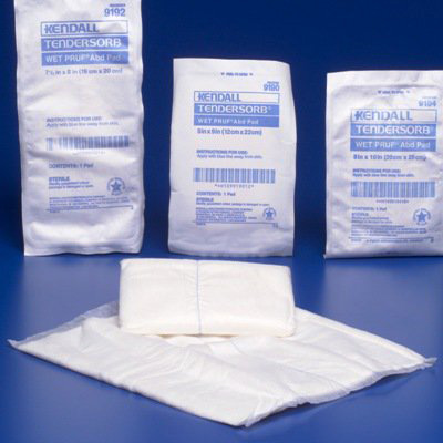 Abdominal Pad Curity NonWoven / Fluff /Wet Proof Barrier 5 X 9 Inch Rectangle NonSterile