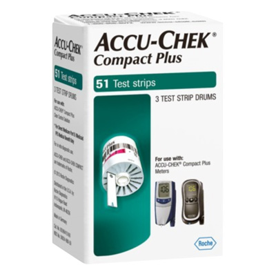 Accu-Chek Compact Plus Test Strip Drums - 51 tests, 3 drums