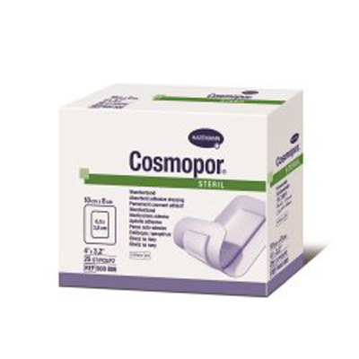 Cosmopor Adhesive Dressing 3-1/8 X 4 Inch Nonwoven Rectangle White Sterile - Case of 550