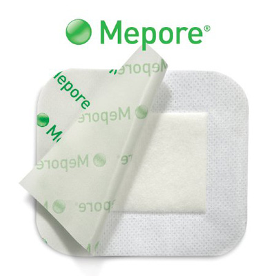 Adhesive Dressing Mepore 3.6 X 8 Inch Nonwoven Spunlace Polyester Rectangle White Sterile