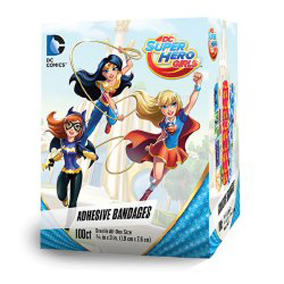 Adhesive Strip 3/4 X 3 Inch Plastic Rectangle Kid Design (DC Super Hero Girls) Sterile