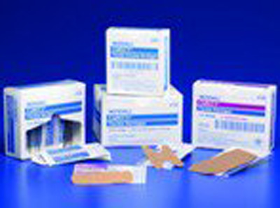 Curity Adhesive Strip 2 X 3.75 Inch Fabric Rectangle Tan Sterile - Case of 600