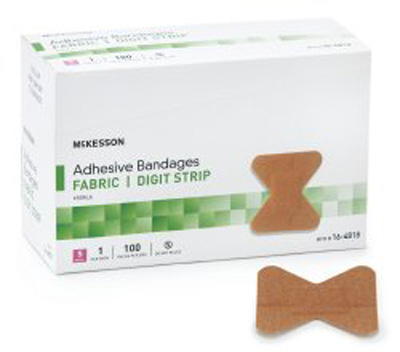 Adhesive Strip McKesson Fabric Knuckle Tan Sterile