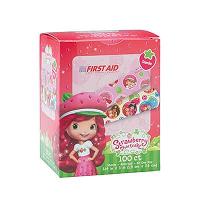 Adhesive Strip Stat Strip 3/4 X 3 Inch Plastic Rectangle Kid Design (Strawberry Shortcake) Sterile
