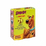 Adhesive Strip Stat Strip 7/8 Inch Plastic Round Kid Design (Scooby Doo) Sterile