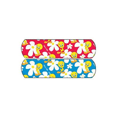 Adhesive Strip Stat Strip .75 X 3 Inch Plastic Rectangle Kid Design (Bugs Bunny and Sylvester) Sterile