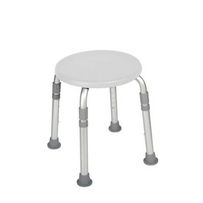 Drive Medical Adjustable Height White Bath Stool rtl12004kd