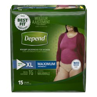 Depend FIT-FLEX Pull On Adult Absorbent Underwear X-Large Disposable Heavy Absorbency - 43586 - Case of 30