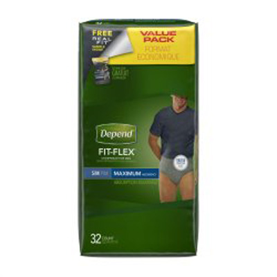 Depend Pull On Adult Absorbent Underwear Small / Medium Disposable Heavy Absorbency - 12539 - Case of 64