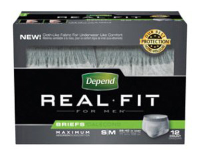 Adult Absorbent Underwear Depend Real Fit Pull On Large / X-Large Disposable Heavy Absorbency