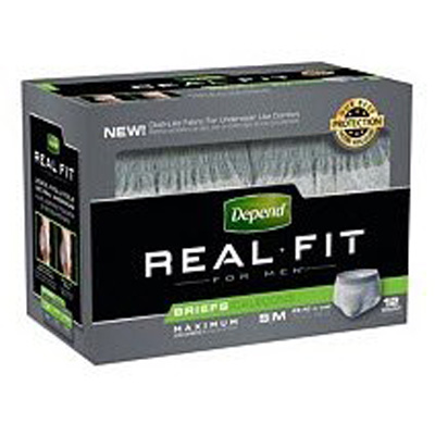 Adult Absorbent Underwear Depend Real Fit Pull On Small / Medium Disposable Heavy Absorbency