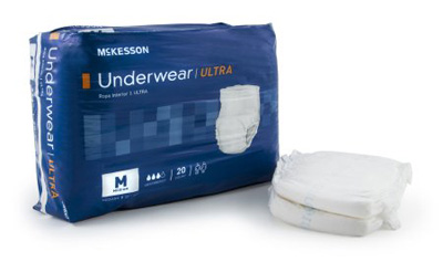 Adult Absorbent Underwear McKesson Ultra Pull On Medium Disposable Heavy Absorbency