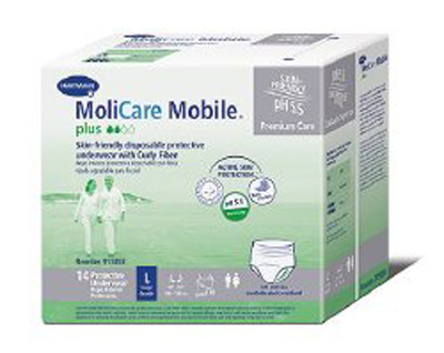 Adult Absorbent Underwear MoliCare Mobile Plus Pull On Small Disposable Heavy Absorbency
