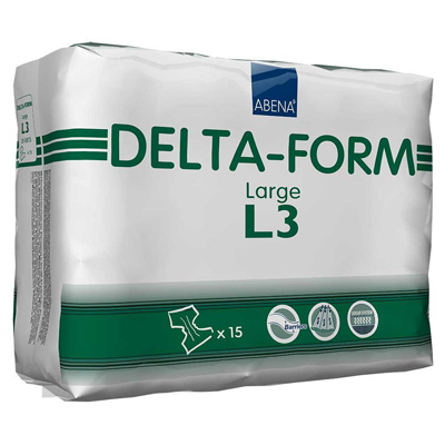 Adult Incontinent Brief Abena Delta-Form Tab Closure Large Disposable Heavy Absorbency