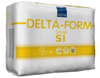 Adult Incontinent Brief Abena Delta-Form Tab Closure Small Disposable Moderate Absorbency