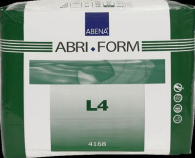 Adult Incontinent Brief Abri-Form Comfort L4 Tab Closure Large Disposable Heavy Absorbency - Case of 36