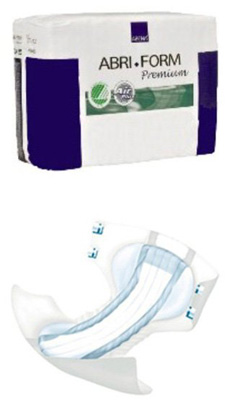Adult Incontinent Brief Abri-Form Premium M4 Tab Closure Medium Disposable Heavy Absorbency
