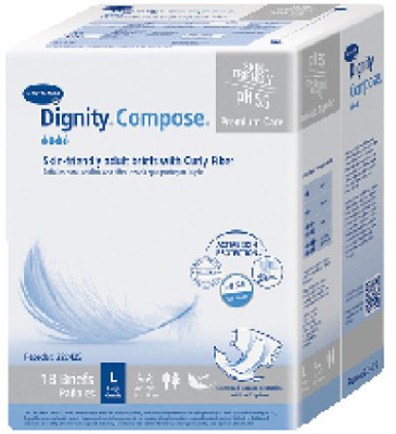 Adult Incontinent Brief Dignity Compose Tab Closure 2X-Large Disposable Heavy Absorbency