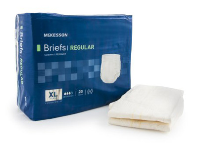 Adult Incontinent Brief McKesson Regular Tab Closure X-Large Disposable Moderate Absorbency