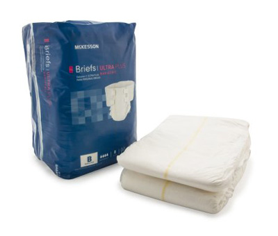 Adult Incontinent Brief McKesson Ultra Plus Bariatric Tab Closure 3X-Large Disposable Heavy Absorbency