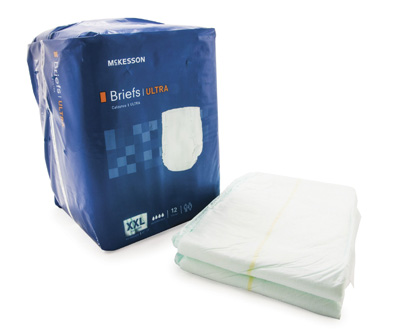 Adult Incontinent Brief McKesson Ultra Tab Closure 2X-Large Disposable Heavy Absorbency