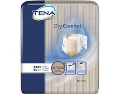 Adult Incontinent Brief TENA Dry Comfort Tab Closure X-Large Disposable Moderate Absorbency
