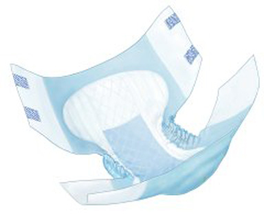 Adult Incontinent Brief Wings Tab Closure Large Disposable Heavy Absorbency