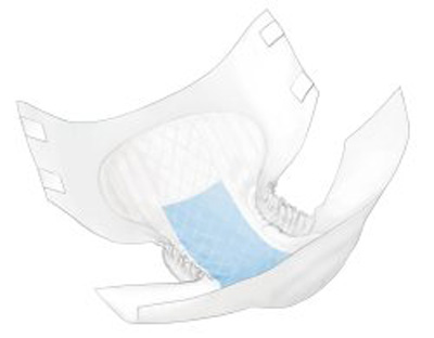 Adult Incontinent Brief Wings Tab Closure Medium Disposable Heavy Absorbency