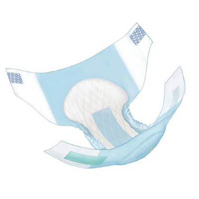 Covidien Wings Adult Incontinent Brief Tab Closure X-Large Disposable Heavy Absorbency - Covidien 63075 - Case of 60