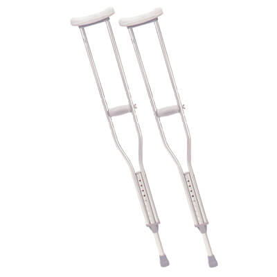 Drive Medical Adult Walking Crutches with Underarm Pad and Handgrip Model rtl10400