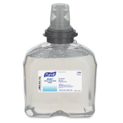Alcohol-Free Hand Sanitizer Purell SF607 1200 mL BZK (Benzalkonium Chloride) Foaming Dispenser Refill Bottle - 5384-02
