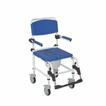 Drive Medical Aluminum Shower Commode Transport Chair Model nrs185007