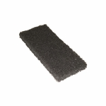 Americo Scouring Pad Heavy Duty Black NonSterile Synthetic Fiber 4-1/2 X 9 Inch Reusable - Case of 20