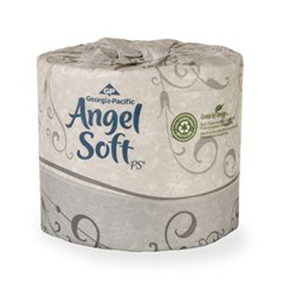 Angel Soft Professional Series Toilet Tissue White 2-Ply Standard Size Cored Roll 450 Sheets 4 X 4.05 Inch