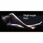 Anti-embolism Stockings Lifespan Thigh High Small, Regular White Inspection Toe