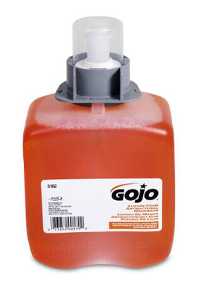 Antibacterial Soap GOJO Foaming 1250 mL Dispenser Refill Bottle Orange Blossom Scent