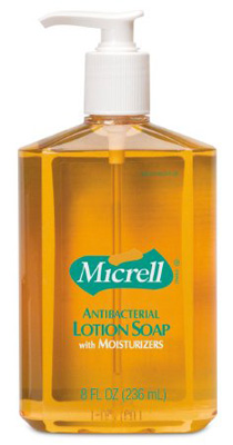 Antibacterial Soap Micrell Lotion 8 oz. Pump Bottle Scented