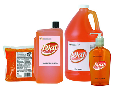 Antimicrobial Soap Liquid Dial Gold Liquid 1 Liter Refill Bottle Scented