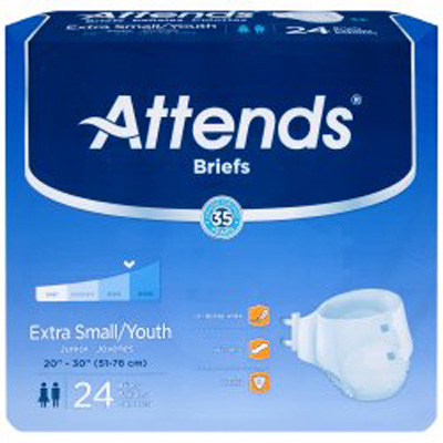 Attends Extra Absorbent Breathable Briefs - Sml - BRBX10 - 96/cs
