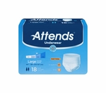 Attends Underwear Extra Absorbency - Lrg - AP0730 - 72/cs