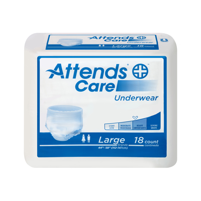 Attends Underwear Regular Absorbency - Large - APV30 - 72/cs