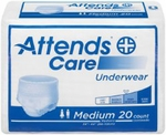 Attends Underwear Regular Absorbency - Medium - APV20 - 80/cs