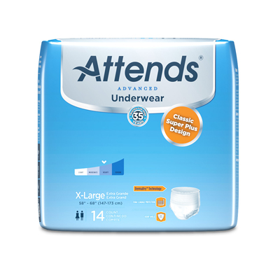 Attends Underwear Super Plus with Leakage Barriers - X-Large - APP0740 - 56/cs