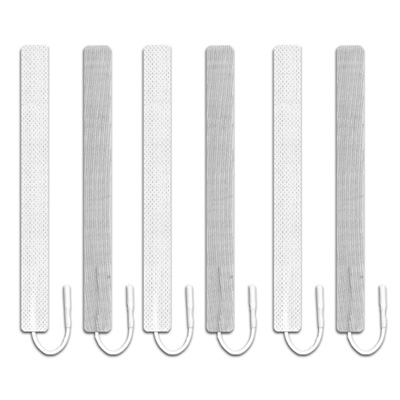 Axelgaard FLEX-Tone Electrodes - 0.6 x 6 in Rectangle - 6 Pack