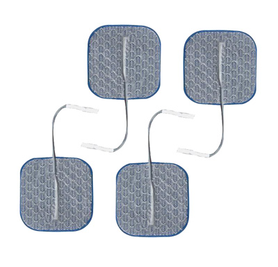 Axelgaard PALS Blue 2 x 2 in Square Silver Electrodes - 4 Electrotherapy Pads
