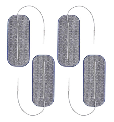 Axelgaard PALS Blue 1.5 x 3.5 in Sq Rectangular  Silver Electrodes - 4 Electrotherapy Pads