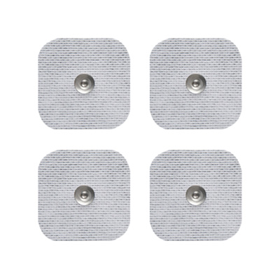 Axelgaard UltraStim SNAP 2 x 2 in Square Silver Grid Electrodes - 4 Pads